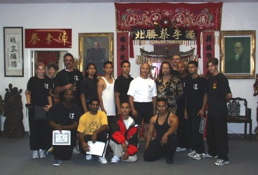 Some of the participants, Third Annual Wing Chun Seminar Master Fred Kwok of Canada instructing,  Grandmaster Vince Lacey hosting